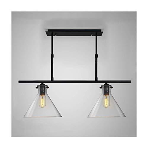 Hanglamp modern minimalistisch glas smeedijzer trechter E27 koppen [energieklasse A ++] (grootte: 1 kop)