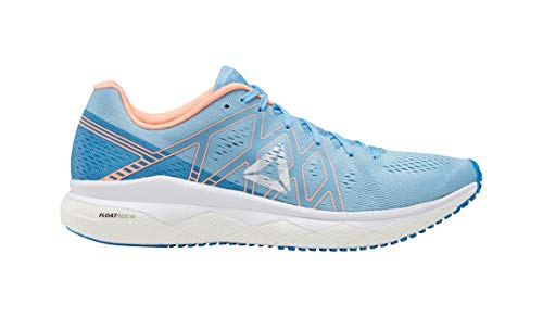 Reebok Women's Floatride Run Fast Running Shoe - Color: Cyan/Sunglow (Regular Width) - Size: 7
