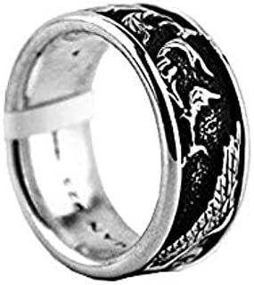 David Yurman Sterling Silver Griffin 8 mm Band Ring Brand