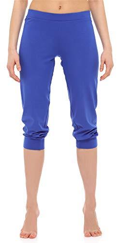 Merry Style Leggings 3/4 Pantaloni Capri Donna MS10-261 (Cobalto, XXL)