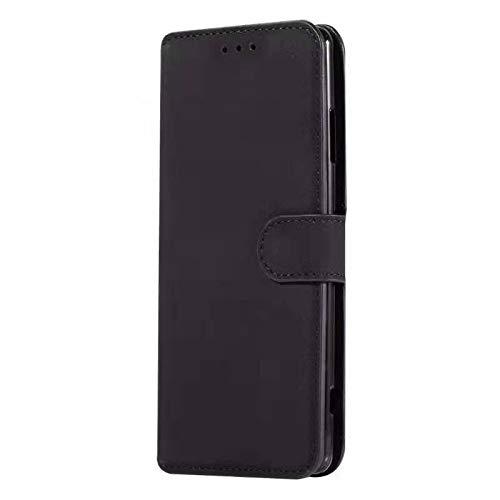 Sunrive Hülle Für ZTE Blade A512, Magnetisch Schaltfläche Ledertasche Schutzhülle Etui Leder Hülle Cover Handyhülle Tasche Schalen Lederhülle MEHRWEG(W8 Schwarz)