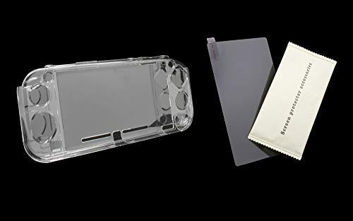 SKGAMES Hardcase Schutz Hülle Cover Case Transparent inkl. Panzerglas Display Schutz für Nintendo Switch Lite