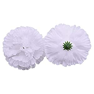 Artificial and Dried Flower 20Pcs 9cm Silk Artificial Carnations Pompom Flower Head for Wedding Party Decoration Scrapbooking Crafts Fake Flowers
