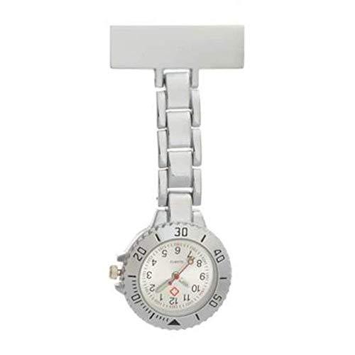 Water cup Reloj de Bolsillo Vintage Reloj de Enfermera Enfermera Dedicado Pin Hebilla Reloj Colgante Reloj de Bolsillo en el Pecho Aleación Cronómetro Impermeable Fácil de Leer Fácil de llev