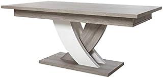 Tousmesmeubles Table de Repas à allonge - MEGEVE - L 225 x l 100 x H 75 - Neuf