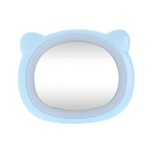 Mini miroir cosmétique rond miroir lumineux portable LED
