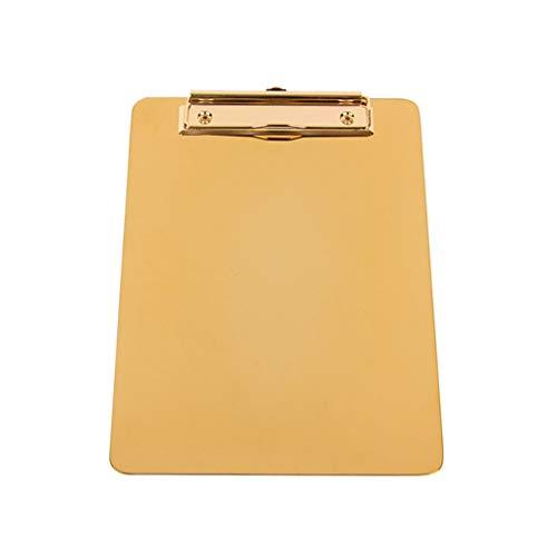 GFCGFGDRG Multifunktions-Schreibmappe Edelstahl Menü Datei Sorting Clip-Menü Ordner-Datei Sorting Vorstand Office Restaurant Zwischenablage, L