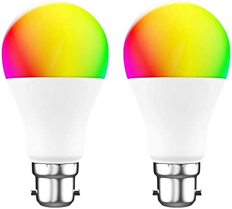 Woox Smart WiFi luz LED RGB cambio de color regulable B22 foco compatible con Alexa, Google Home Assistant, R4554