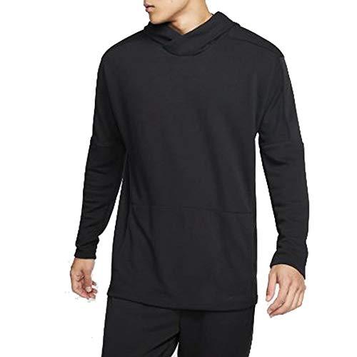 Nike Men's Yoga Dri-FIT Hoodie (XL, Black/Black)