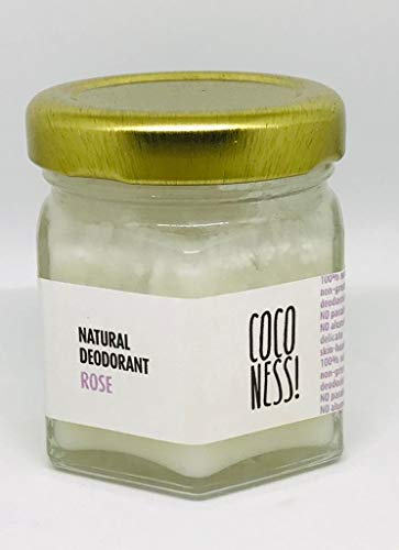 Coconess Natural Deodorant: Rose, 25 gms.