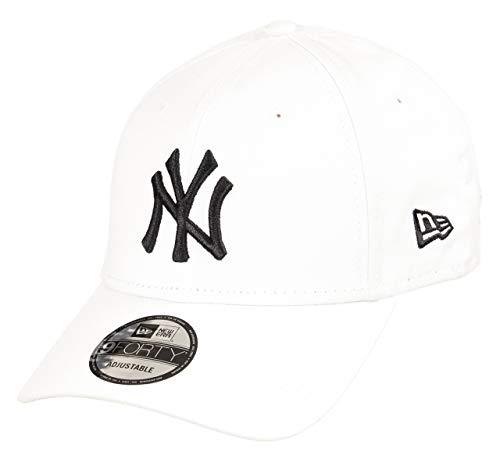 New Era York Yankees 9forty Adjustable Cap MLB Rear Logo White/Black - One-Size