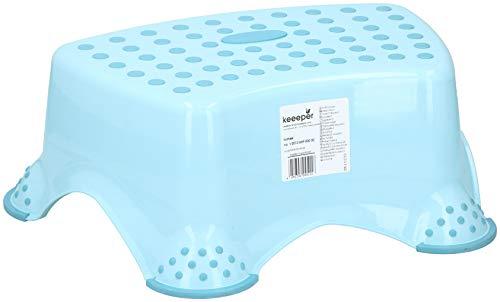 keeeper Tritthocker, stabil, Kunststoff, für Kinder bis zu 80 kg, Blau