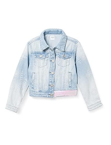 Desigual Girls CHAQ_ITURRA Denim Jacket, Blue, 11/12