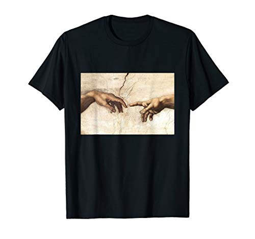 Creation of Adam Michelangelo Gemälde - Fun Geschenke T-Shirt
