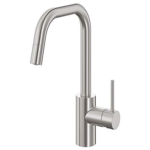 ÄLMAREN rubinetto miscelatore cucina con bocca estraibile 36 cm acciaio inox colore