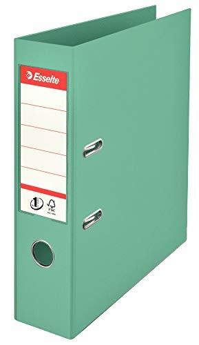 Esselte, Nr. 1 Power, Packung mit 10 Ordnern, Colour'Ice Grün, Rücken 75 mm, A4, PP, 626505