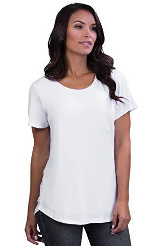 Belly Bandit - Perfect Nursing Tee for Discreet Nursing - Large, White