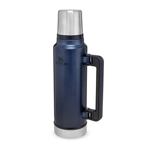 Stanley Classic Legendary Bottle Edelstahl-Thermoskanne, | BPA-frei |Hält 40 Stunden heiß | Deckel fungiert als Trinkbecher | Spülmaschinenfest | Lifetime Warranty, Nightfall, 1.4 L
