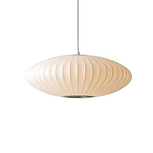 KAUTO Lámpara Colgante Estilo Linterna de Tela Art Deco con cordón Ajustable Lámpara Colgante Suspensión Disponible en 3 tamaños Decoración Interior -19.5'