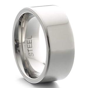 Heideman Ring Damen und Herren Paari aus Edelstahl Silber Farben poliert oder matt Damenring für Frauen und Männer Partnerringe 9mm breit schmaler Ring hr7013_P