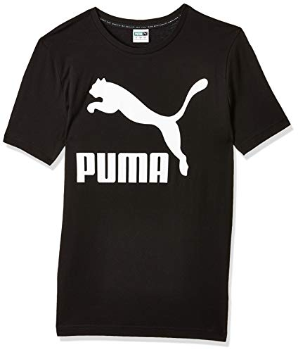 PUMA Classics Logo tee Camiseta, Hombre, Puma Black, S