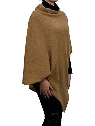 DALLE PIANE CASHMERE - Poncho aus 100% Kaschmir - für Frau, Farbe: Kamel, Einheitsgröße