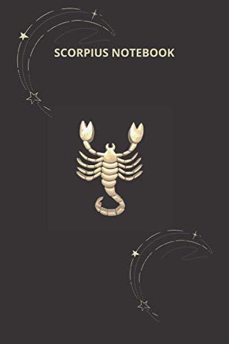 SCORPIUS NOTEBOOK: Zodiac Notebook, Horoscope Journal, Scorpius Notebook, Star sign notebook, lined pages.