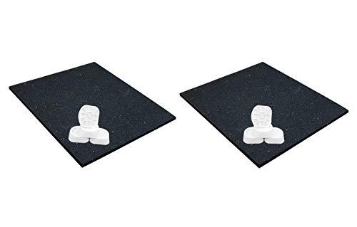 2 x Antivibrationsmatte für Waschmaschinen 62x60x0,6 cm + Dämpfer 4er Set