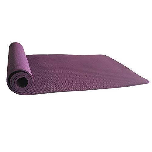 CUHAWUDBA 6Mm Esterilla de Yoga Antideslizante de TPE, Adecuada para Ejercicios, Sin Sabor, Tapete Deportivo, Bolsa de Yoga Cinturón de Yoga