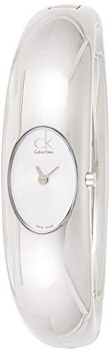 Calvin Klein Damen Analog Quarz Uhr mit Edelstahl Armband K1Y22120