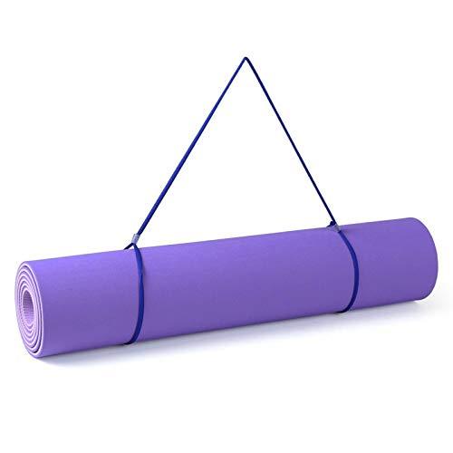 Lshbwsoif Esterilla de yoga para yoga, esterilla de ejercicio gruesa, antideslizante, apta para ejercicios de fitness, equipada con correas y bolsas de almacenamiento para yoga, pilates y gimnasia.