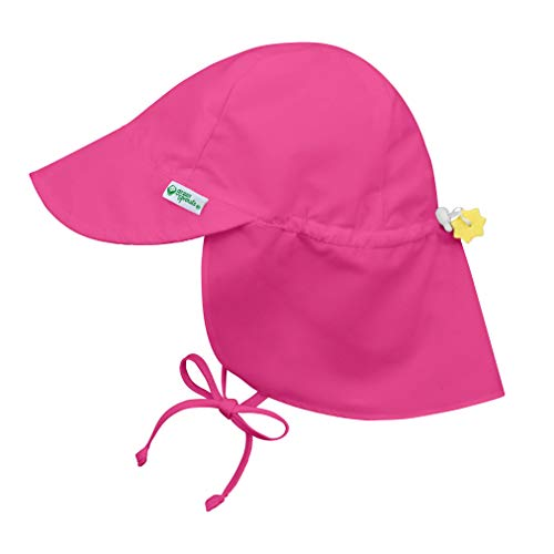 i play. Baby Flap Sun Protection Swim Hat, Pink, 9-18 Months
