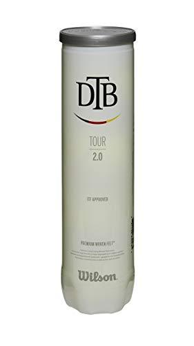 WILSON DTB Tour 2.0 Tennisbälle 4er Dose ITF geprüft offizieller Spielball