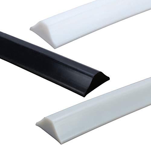 ZHXQ Duschdichtung Duschkabine,Duschwasserstop Streifen,Flexible Silicone Water Stopper Strips,Boden Dichtleiste Türdichtung Dusche,FüR Die Nass- Und Trockentrennung,0.5m Flexibel und selbstklebend