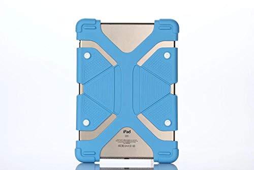 Funda de Silicona para Cubierta de Tableta Universal de 10.1 Pulgadas para ASUS MeMO Pad FHD 10 ME302KL LTE / ME302C Carcasa de 10.1 Pulgadas-Azul