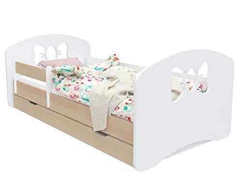 DG SCHLEIFCHEN - Cama infantil con colchón y canapé beige Birne Talla:140x70 cm