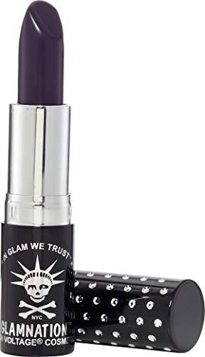 Manic Panic Deadly Nightshade Lethal Lipstick - Deep Dark Plum Lipstick - Creamtones Lipsticks Have A Buttery Semi-matte Finish - Vegan & Cruelty Free - Long Lasting Moisturizing Plum Lipstick