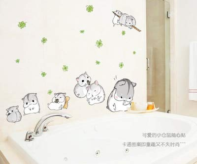 Das niedliche Hamster-PVC kann lustige Aufkleber aus dem Kinderzimmer entfernen und an die Wand kleben