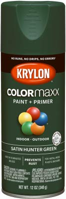 Krylon K05563007 12 Oz Hunter Green Satin Colormaxx Spray Paint