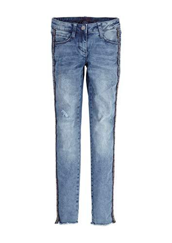 s.Oliver RED LABEL Mädchen Skinny Suri: Jeans mit Galonstreifen blue 146.REG