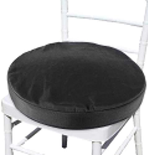 Paquete de 2 Cojín Silla redonda Asientos Pads acolchado del asiento cojines sofá de la silla del jardín del amortiguador amortiguador trasero for uso en interiores y al aire libre ( Color : Black )