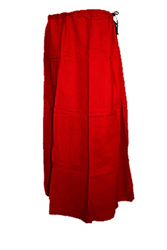 Trendofindia Unterrock Petticoat für Bollywood Sari aus Baumwolle - Diverse Farben - (Bordeaux)