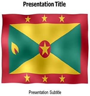 Grenada Animated Flag Powerpoint Templates - Powerpoint Animated Flag on Grenada