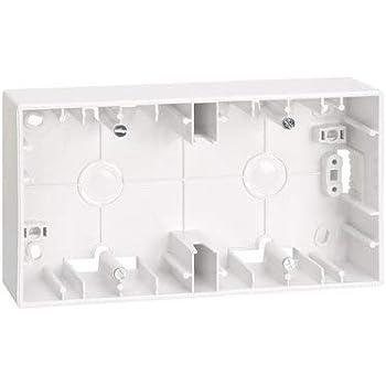 Caja de superficie para 2 elementos Simon 27 Blanco: Amazon.es: Bricolaje y herramientas