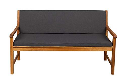 Bankauflage Für Hollywoodschaukel Set Glatt Sitzkissen + Rückenlehne FK5 (140x40x50, Dunkelgrau)
