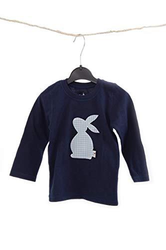 Baby-Kinder T.Shirt dunkelblau, Hasen T.Shirt, Ostergeschenk, Baby-Kinderbekleidung