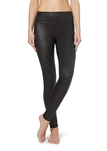 Calzedonia Damen Total-Shaper-Leggings mit Leder-Effekt