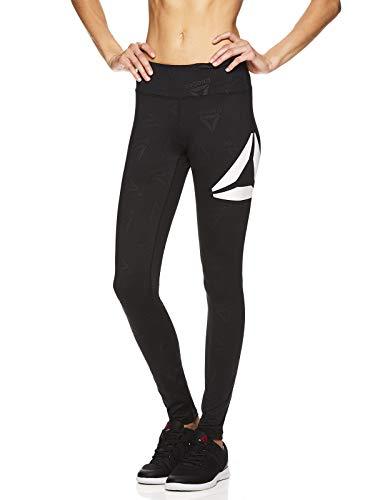 Reebok Damen Leggings volle Länge Performance Kompressionshose – Athletic Workout Leggings für Frauen für Gym & Sport – Classic Delta Black, XS