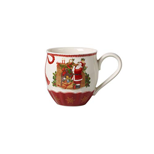 Villeroy und Boch Annual Christmas Edition Jahresbecher 2019, Sammelbecher, Premium Porzellan, rot, bunt, 0,53 x 15 x 10,5 x 10,5 cm, Handwäsche