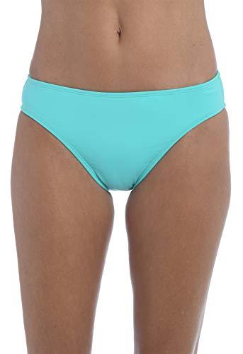 La Blanca Women's Standard Island Goddess Solid Hipster Bikini Swimsuit Bottom, Aquamarine, 10